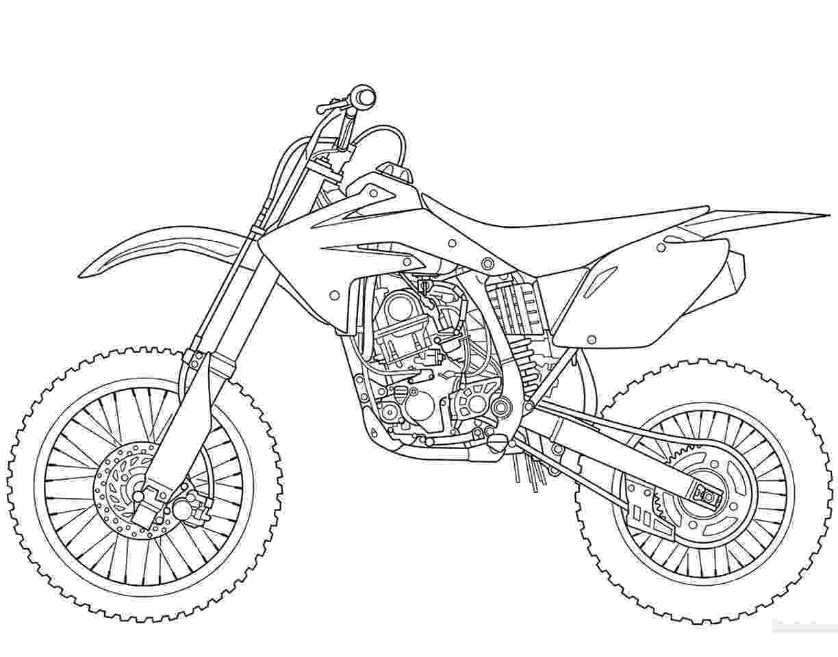 pictures of dirt bikes to color free motorcycle coloring page letscoloringpagescom bikes to pictures of dirt color