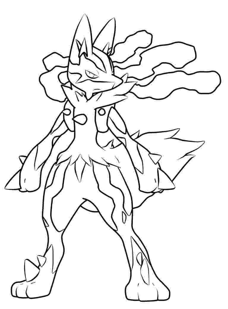 pictures of mega lucario mega lucario pokemon coloring get coloring pages lucario pictures mega of