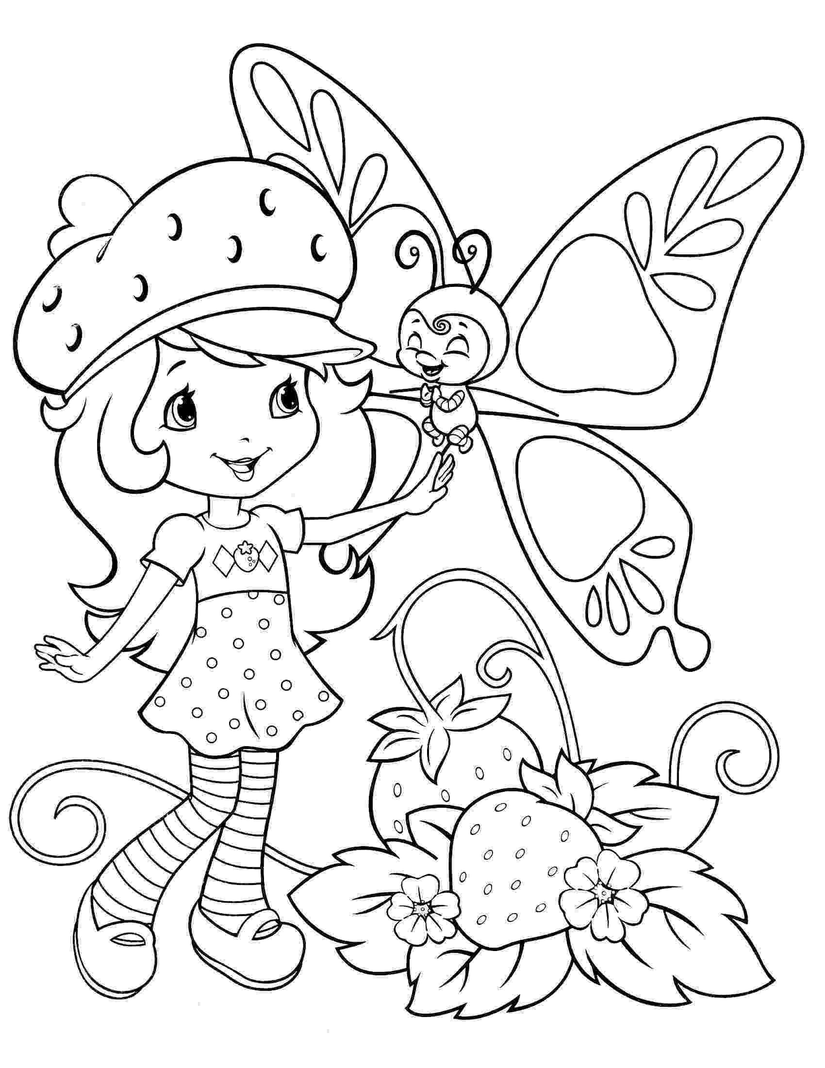 pictures of strawberry shortcake strawberry shortcake coloring pages butterfly aas shortcake strawberry of pictures