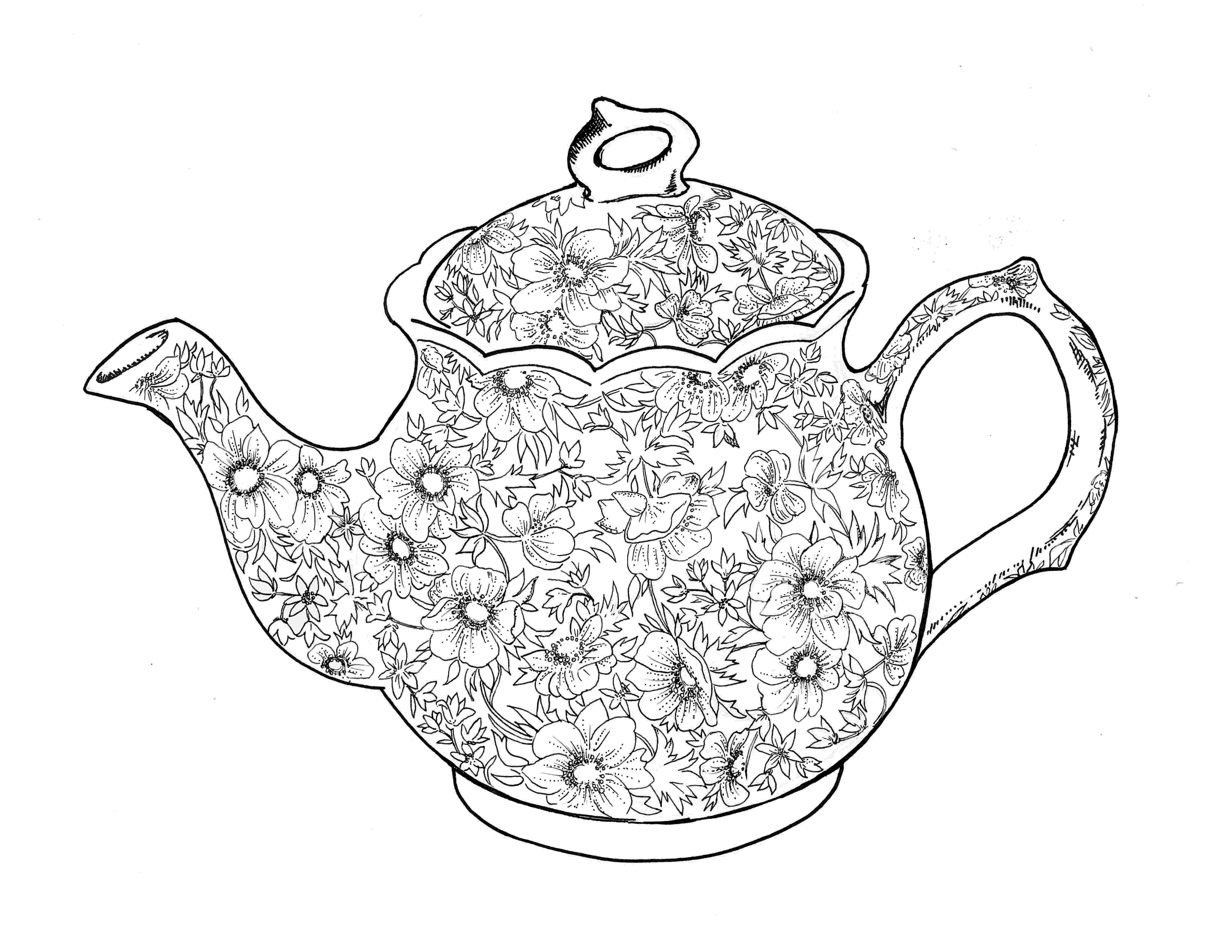 pictures of teapots to colour 1000 images about dibujos on pinterest coloring pages pictures of to teapots colour