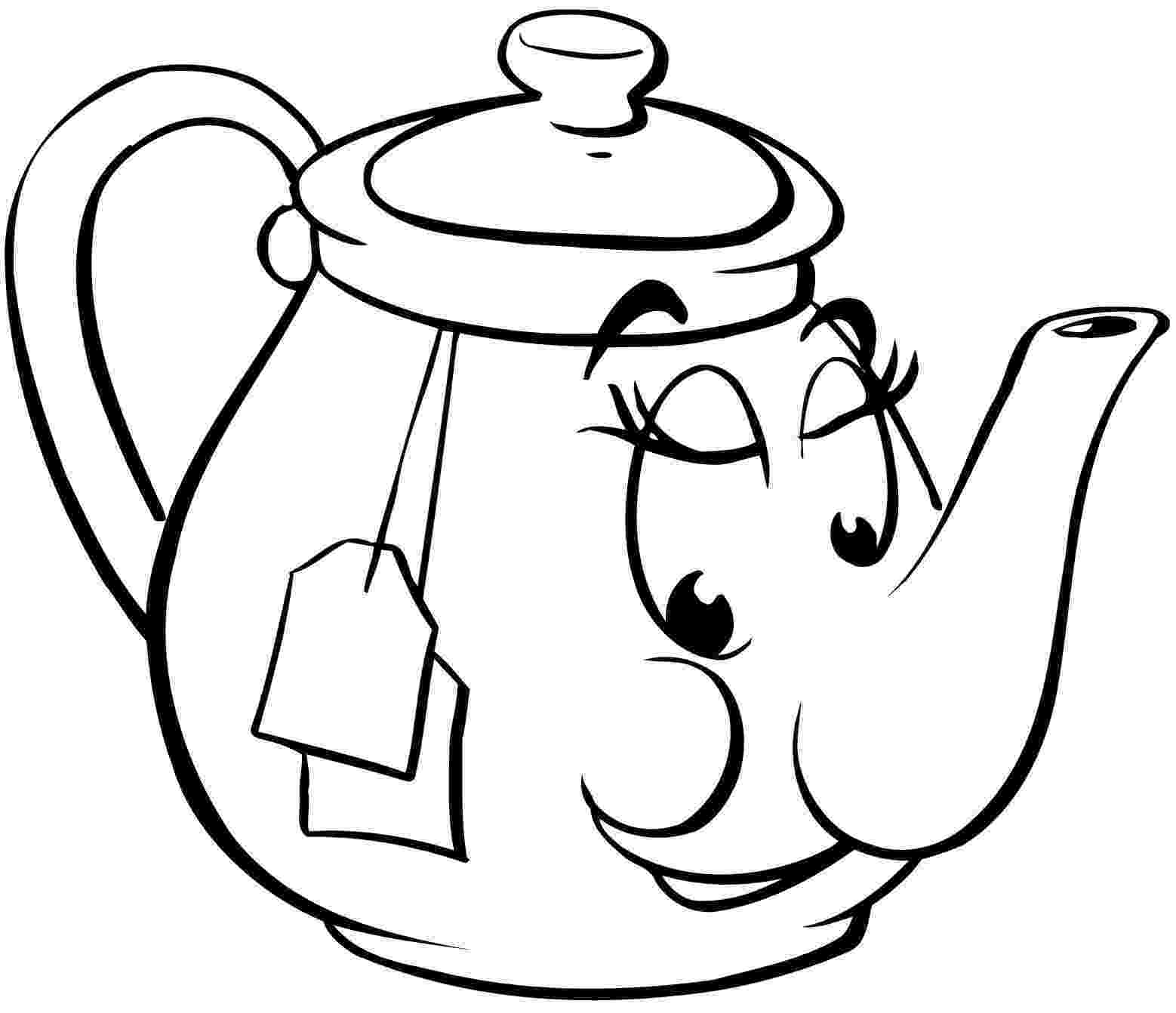 pictures of teapots to colour teapot coloring pages to pictures colour of teapots