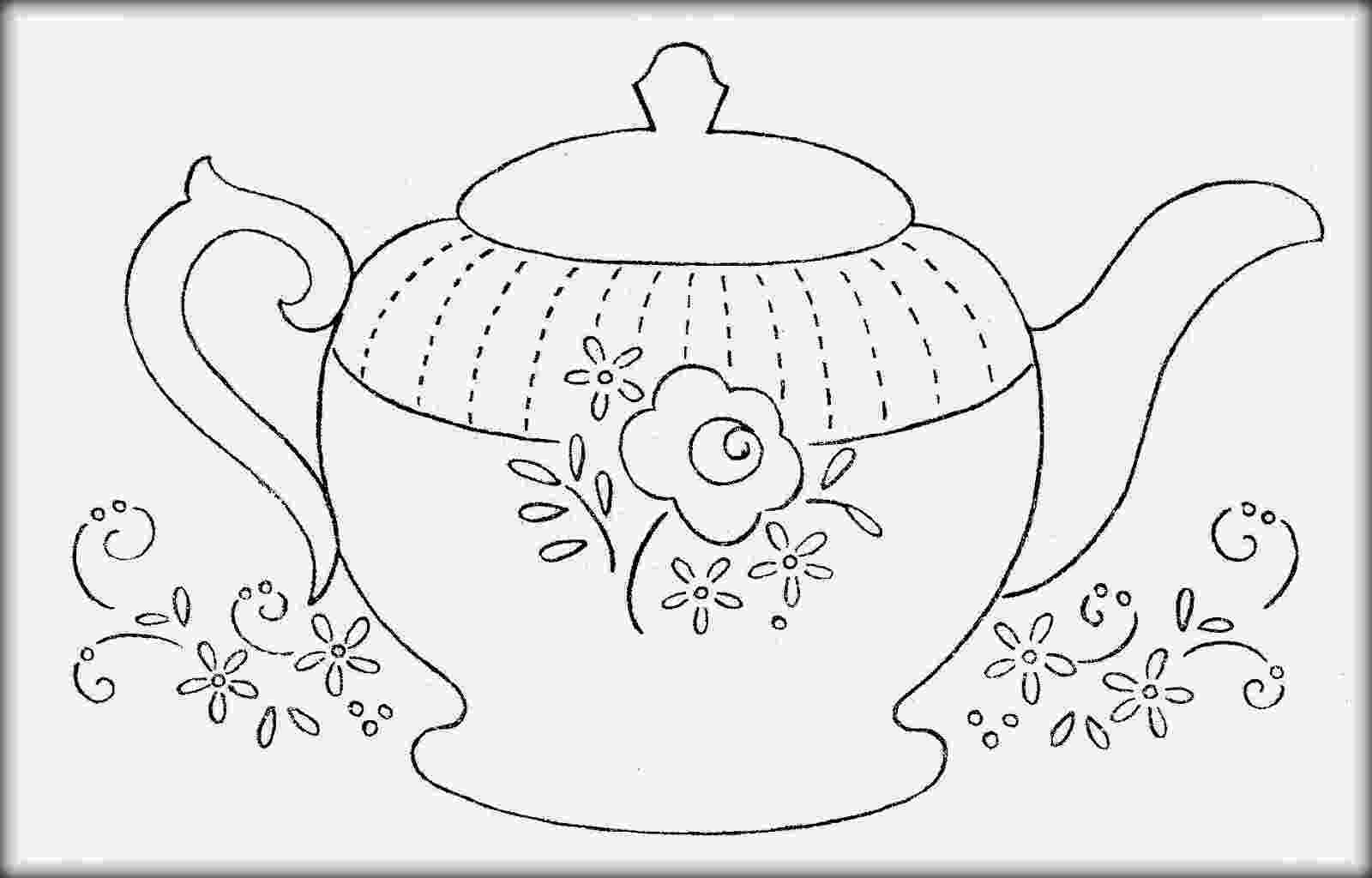 pictures of teapots to colour teapots and cups colouring pages page 2 clipartsco of teapots pictures to colour