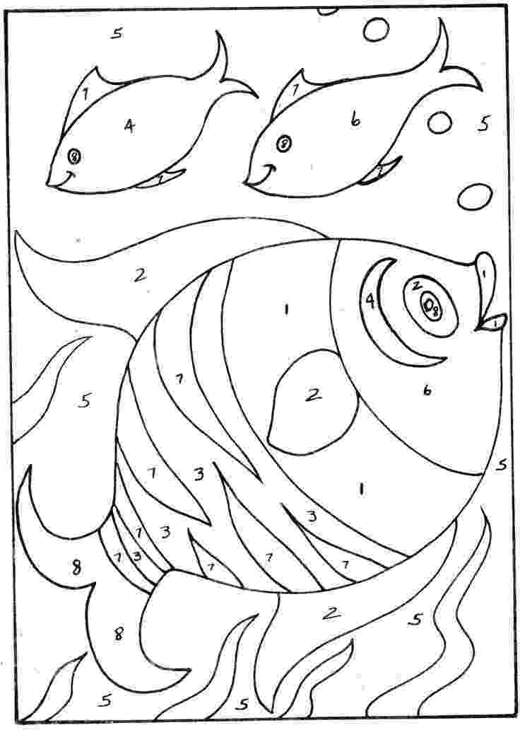 pictures to color by number coloring pages for kids simple color by number simple pictures by color number to