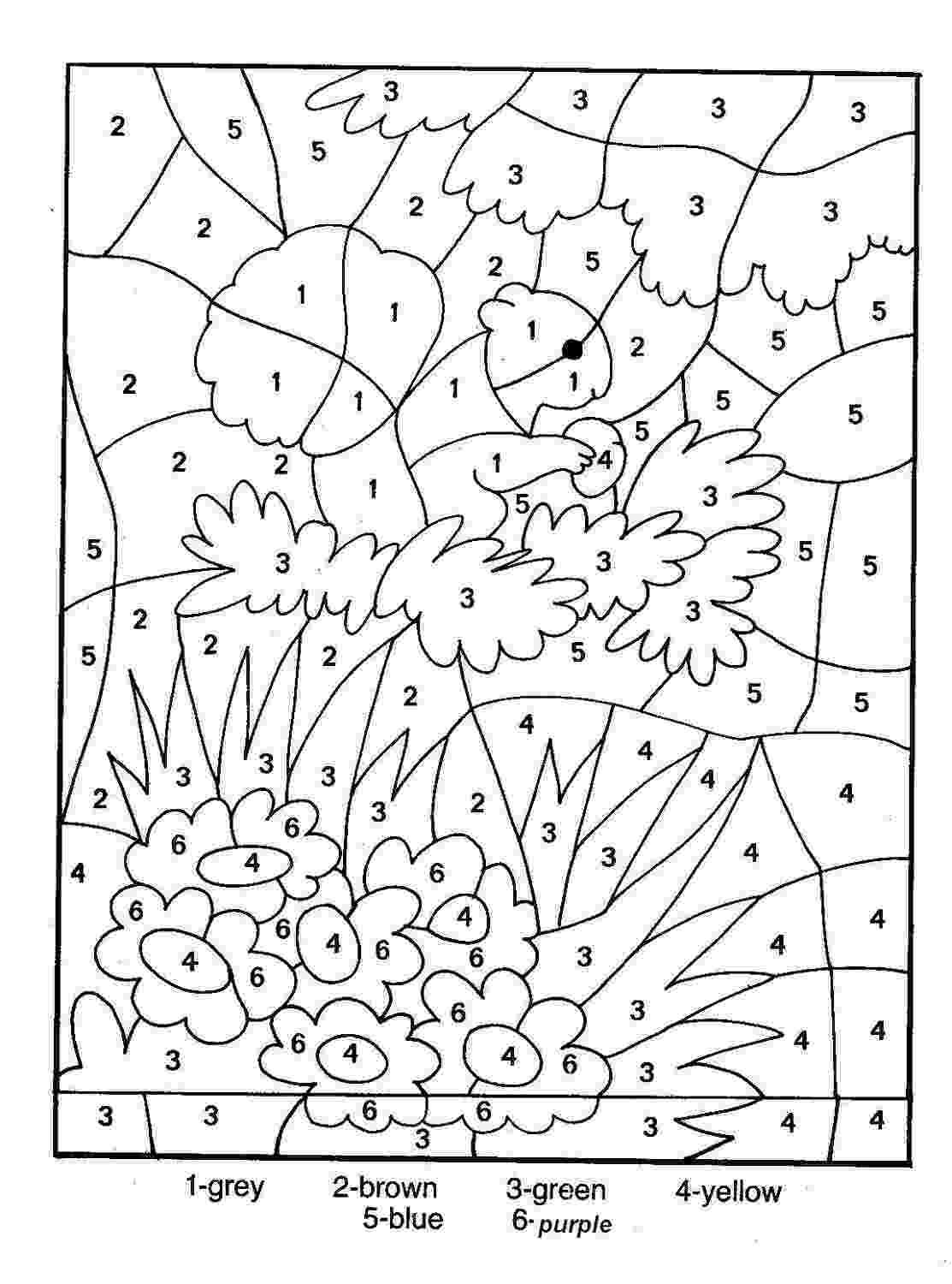 pictures to color by number free color by number worksheets cool2bkids by pictures color to number