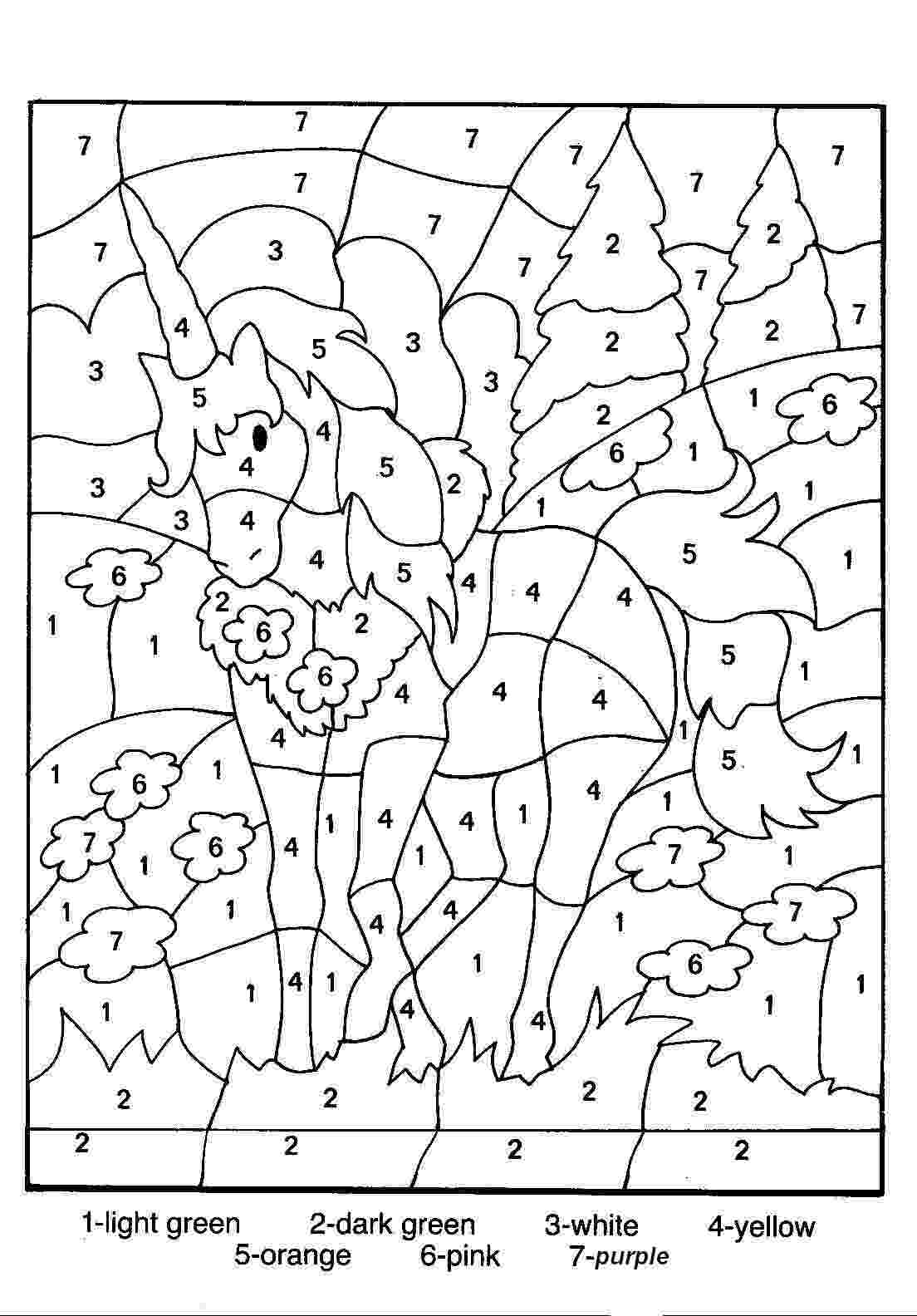 pictures to color by number free printable color by number coloring pages best pictures by color number to