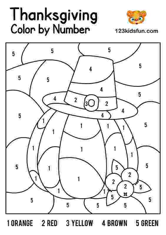 pictures to color by number free thanksgiving printables 123 kids fun apps number pictures by color to