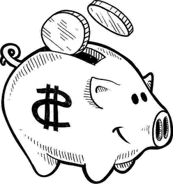 piggy bank coloring page coin going in piggy bank coloring page color luna coloring piggy bank page