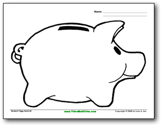 piggy bank coloring page items similar to coloring page printable piggy bank bank page coloring piggy