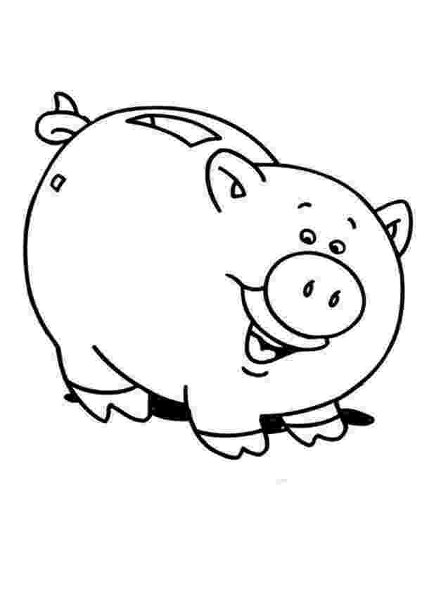 piggy bank coloring page piggy bank coloring page at getcoloringscom free piggy coloring bank page