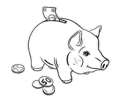 piggy bank coloring page piggy bank coloring pages coloring pages to download and coloring piggy bank page