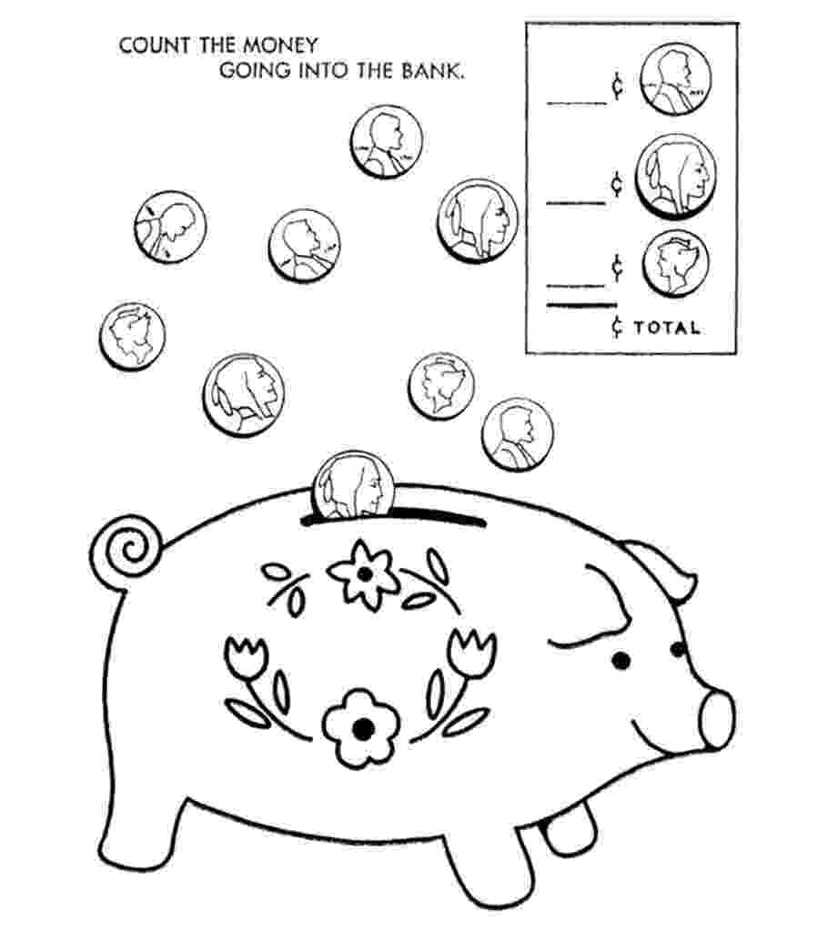 piggy bank coloring page printable piggy bank coloring page free pdf download at piggy coloring bank page
