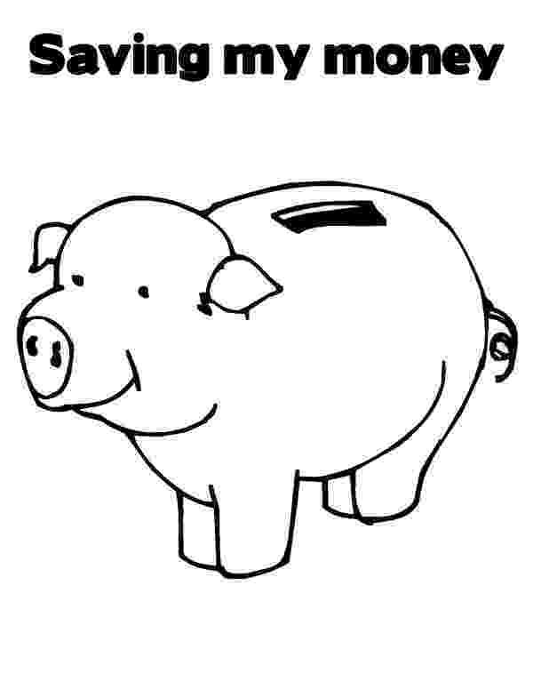 piggy bank coloring page saving my money in piggy bank coloring page color luna bank coloring piggy page