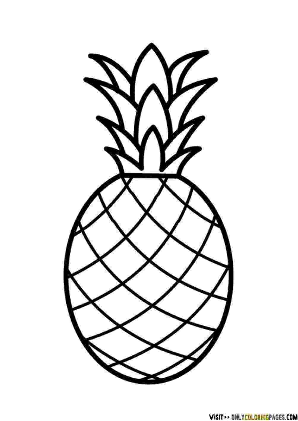 pineapple colouring picture 10 best pineapple coloring pages for toddlers colouring pineapple picture