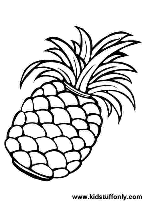pineapple colouring picture fruits and vegetables coloring pages momjunction pineapple colouring picture