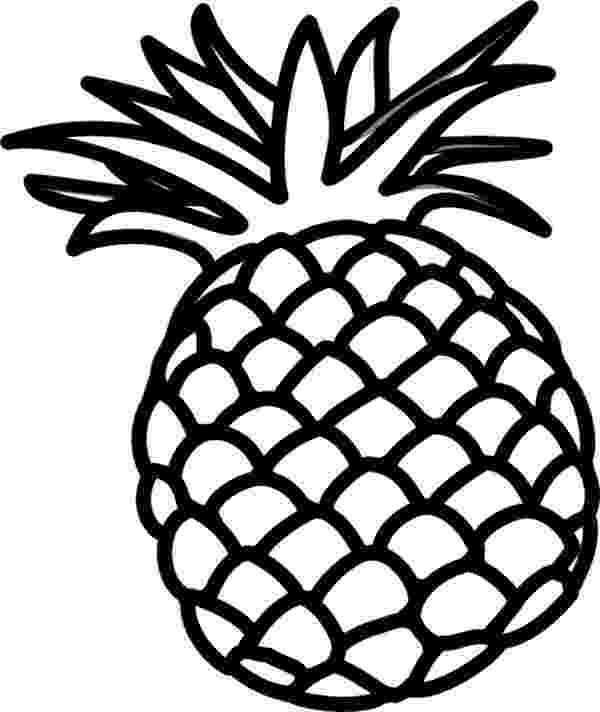 pineapple colouring picture pineapple clipart black and white free download on pineapple colouring picture
