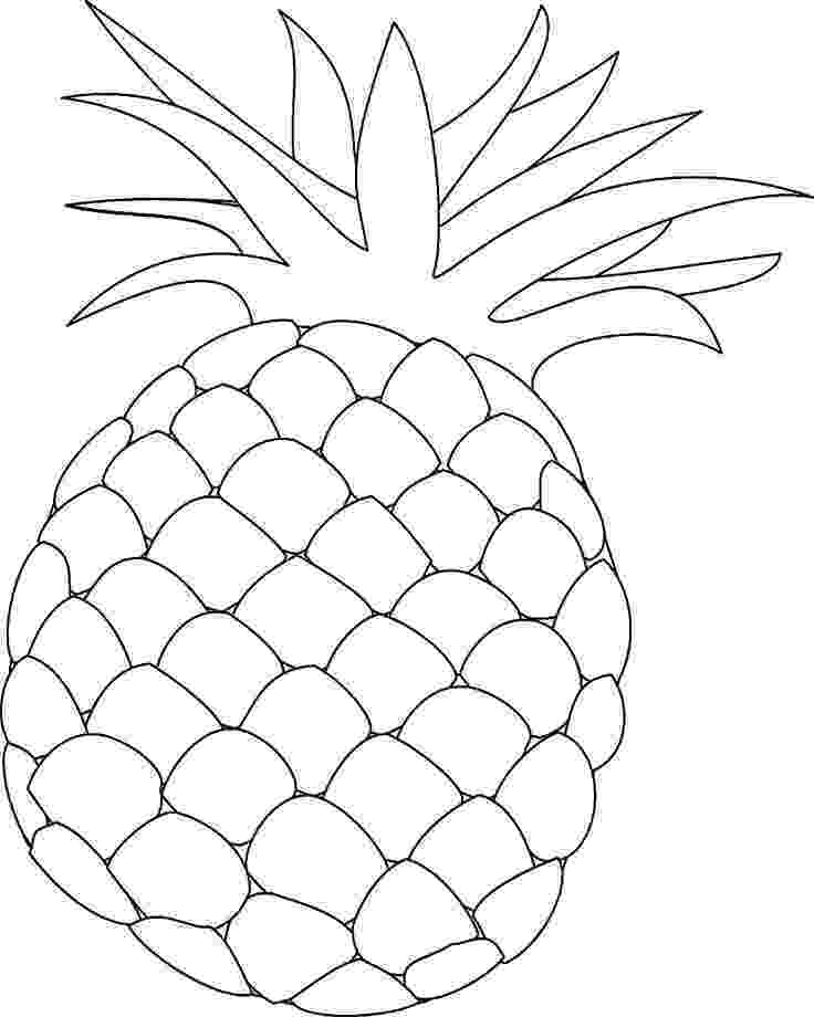pineapple colouring picture pineapple colouring picture colouring pineapple picture