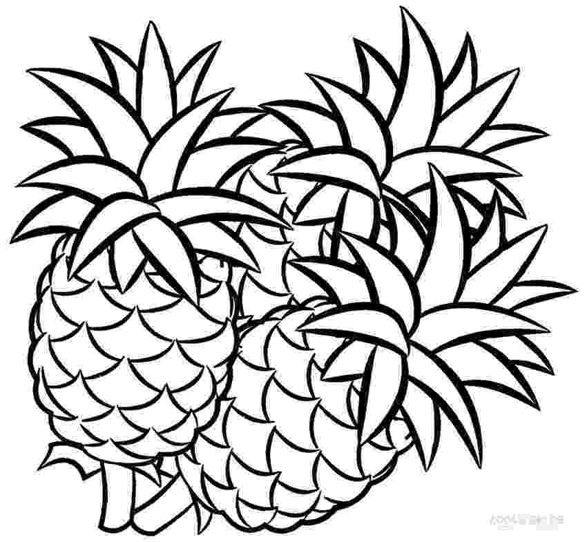 pineapple colouring picture printable pineapple coloring pages for kids cool2bkids picture colouring pineapple