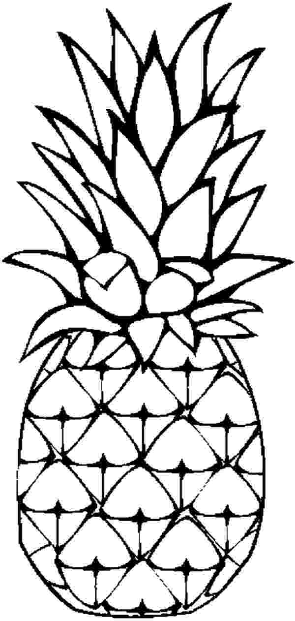 pineapple picture to color free printable pineapple coloring pages for kids pineapple color picture to