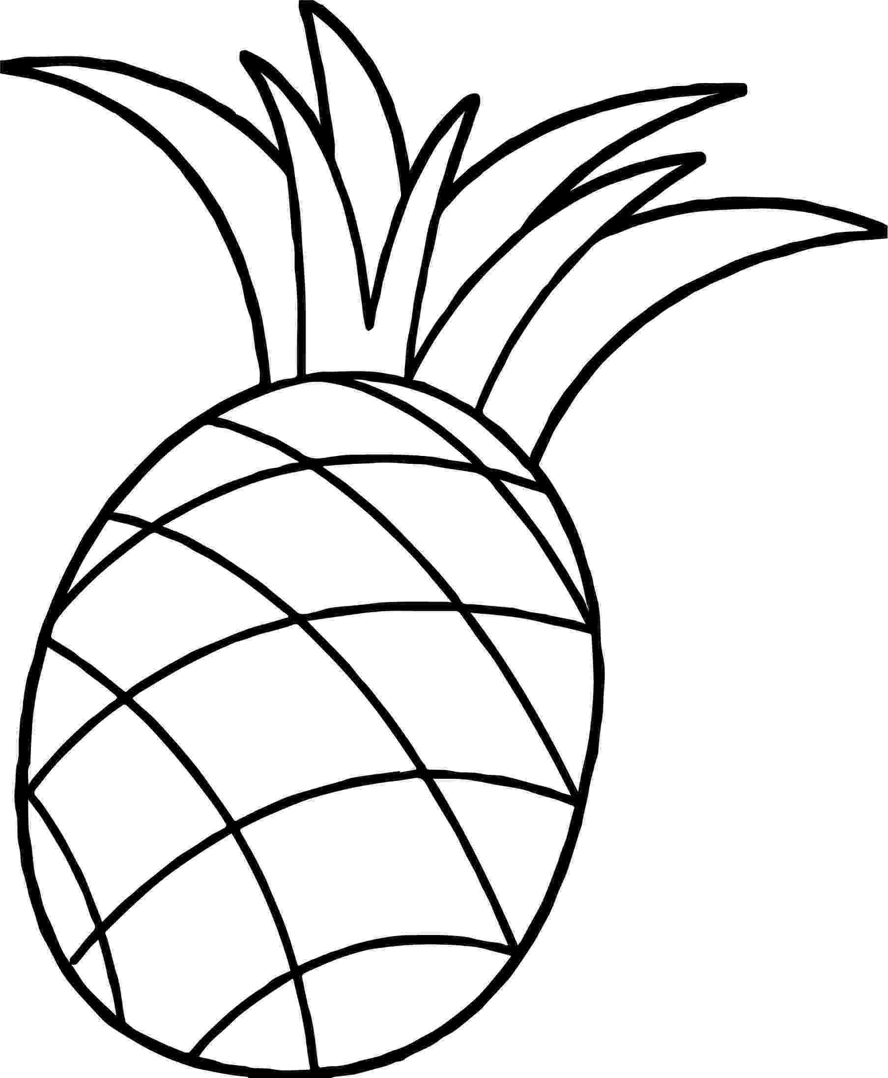pineapple picture to color free printable pineapple coloring pages for kids pineapple picture to color