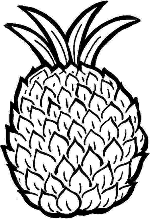pineapple picture to color free printable pineapple coloring pages for kids to pineapple color picture