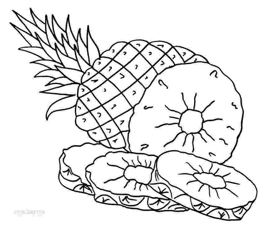 pineapple picture to color pineapple coloring pages 360coloringpages pineapple color to picture