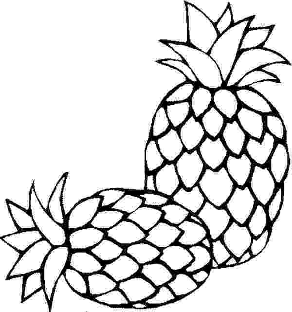 pineapple picture to color pineapple coloring pages color pineapple picture to