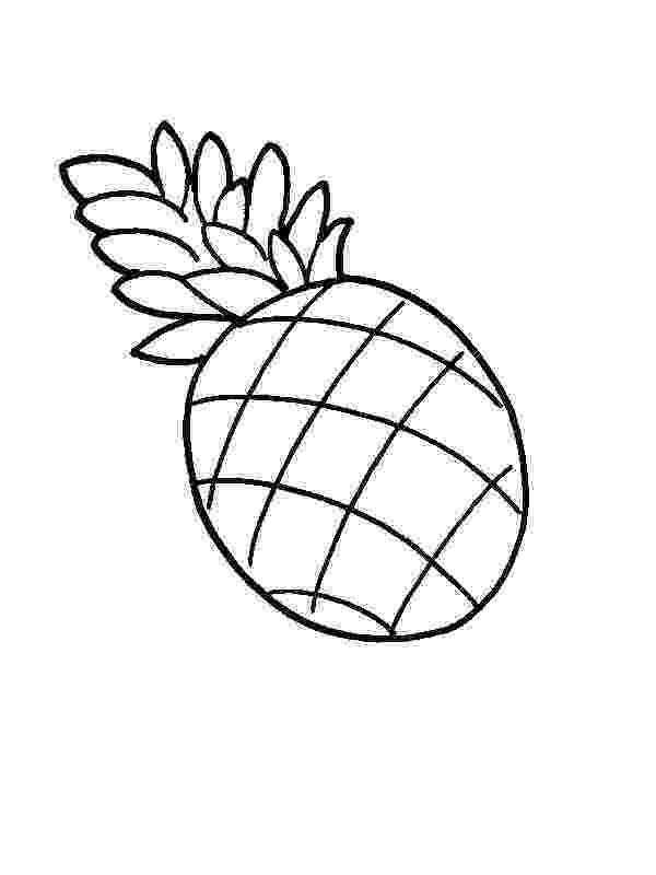 pineapple picture to color pineapple coloring pages picture to color pineapple