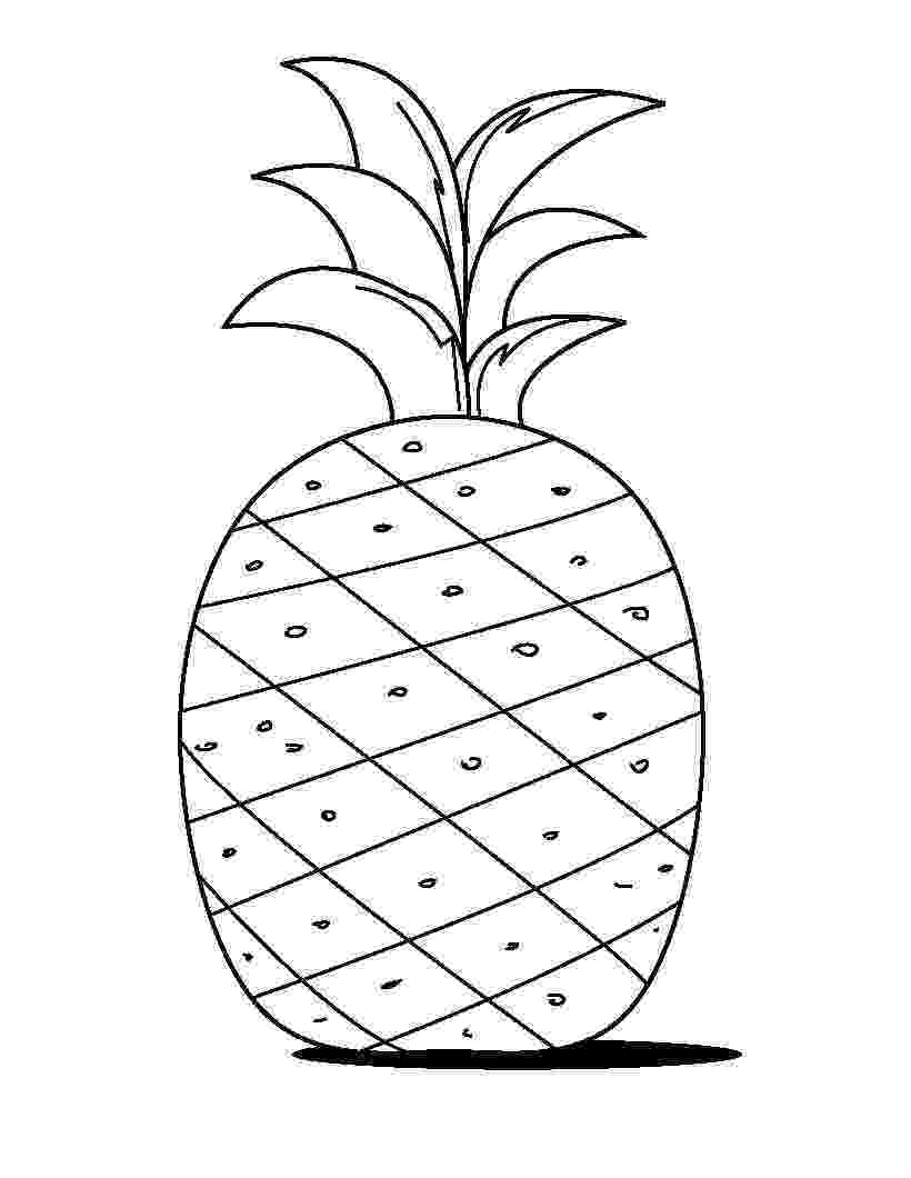 pineapple picture to color pineapple fruits coloring pages for kids printable free color to pineapple picture