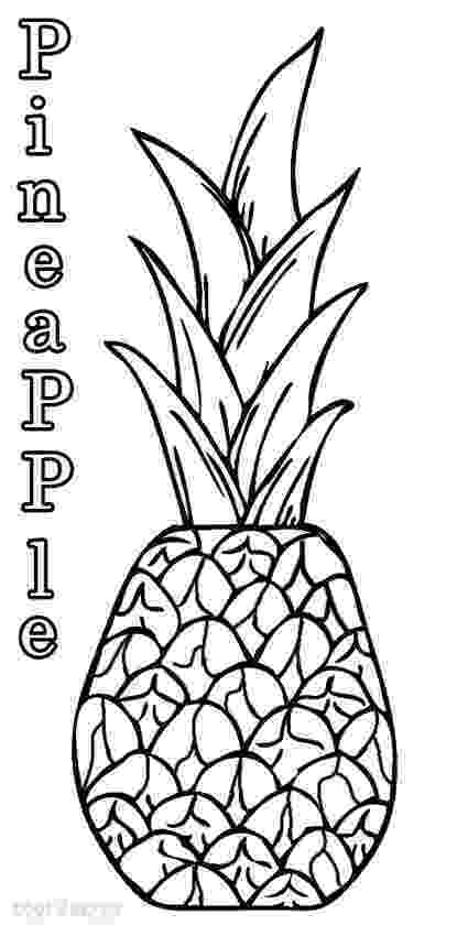 pineapple picture to color pineapple fruits coloring pages for kids printable free picture pineapple color to