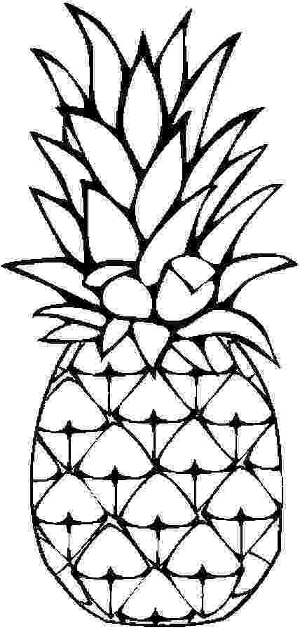 pineapple picture to color pinneapple coloring page chocolate bar color pineapple to picture