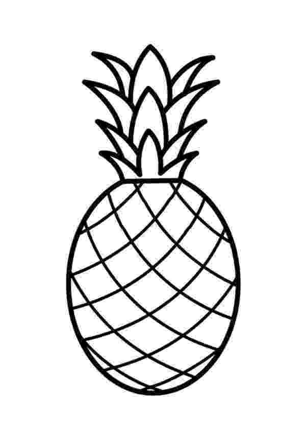 pineapple picture to color printable pineapple coloring pages for kids pineapple to color picture