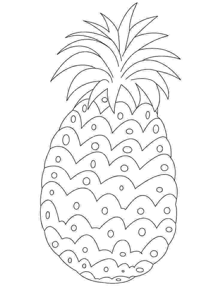 pineapple picture to color smooth cayenne pineapple from hawaii coloring page pineapple to picture color