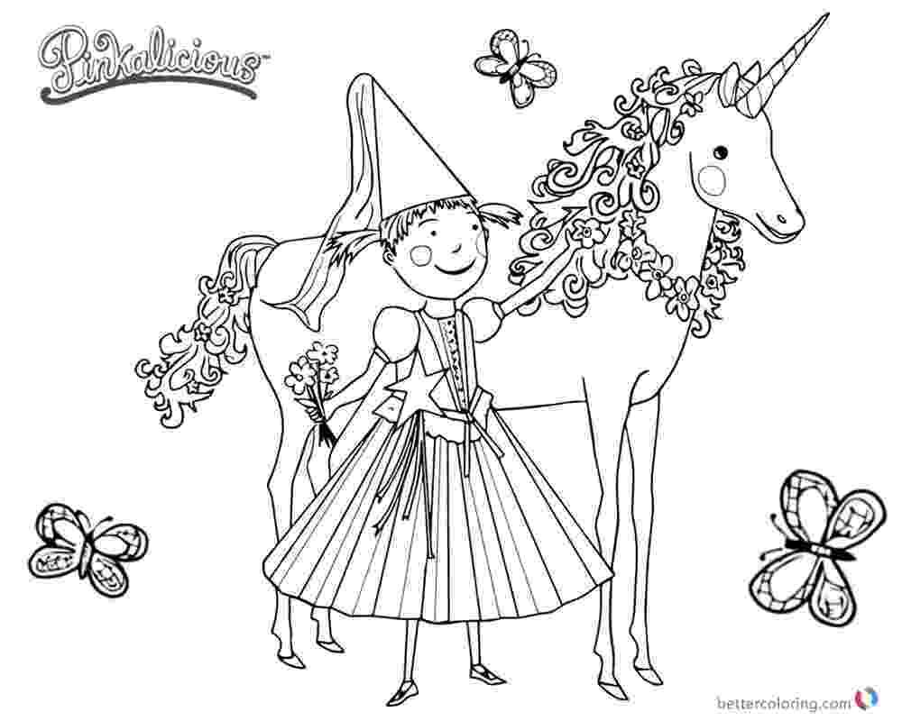 pinkalicious coloring pages free pinkalicious coloring pages unicorn and butterflies free pinkalicious free coloring pages