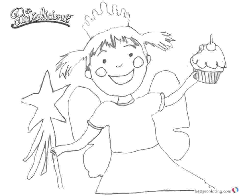 pinkalicious coloring pages free pinkalicious with pink cupcakes coloring page free free pages pinkalicious coloring