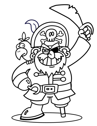 pirate coloring wikijuniormaze and drawing bookpirate wikibooks open pirate coloring