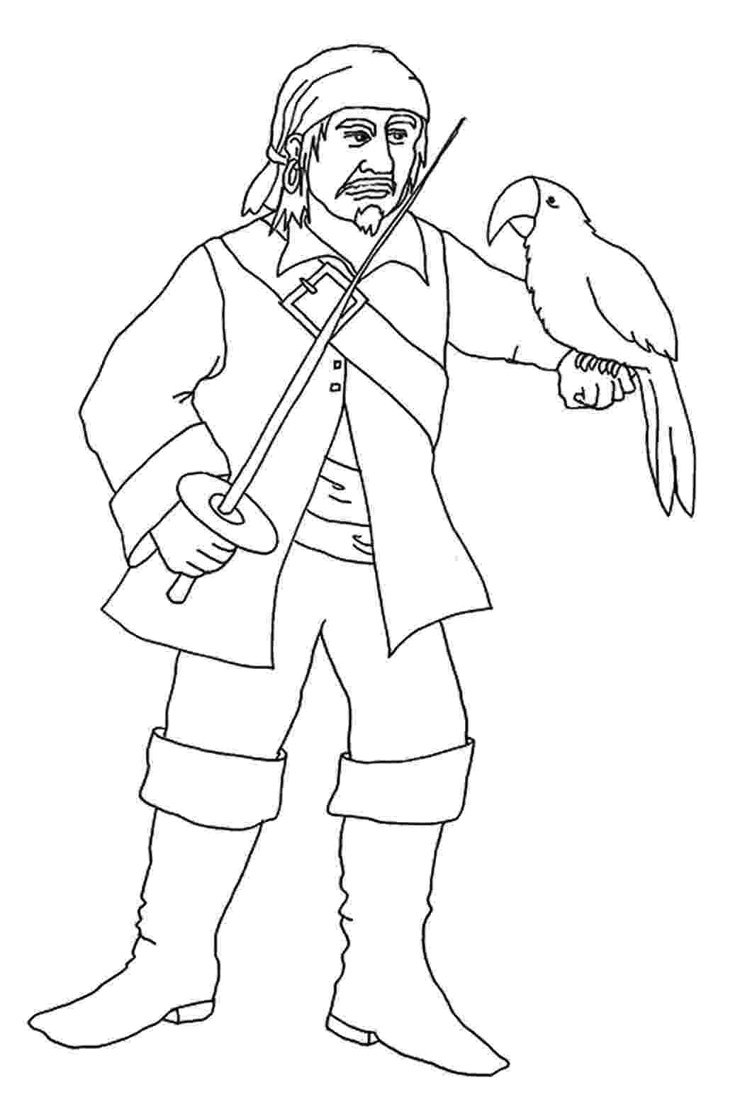 pirate parrot coloring pages parrot pirate coloring pages surfnetkids pages parrot pirate coloring