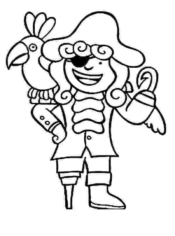 pirate parrot coloring pages people coloring pages surfnetkids coloring pages parrot pirate