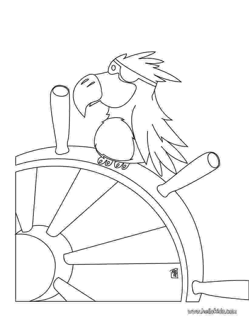 pirate parrot coloring pages pirate ship coloring pages getcoloringpagescom pages parrot coloring pirate