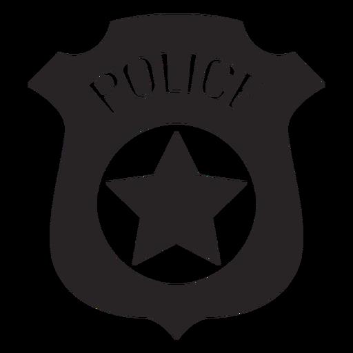 placa de policia dibujo badge police silhouette transparent png svg vector dibujo placa policia de