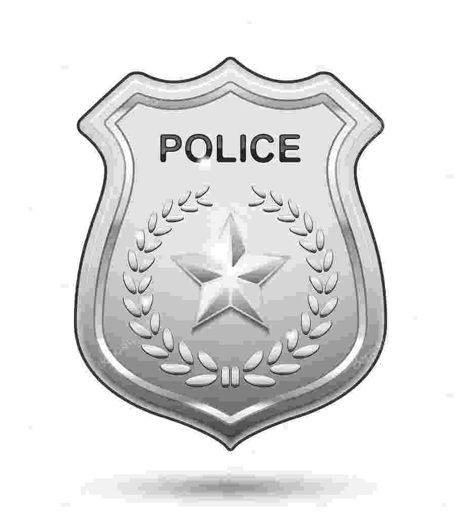 placa de policia dibujo police officer badge coloring page free printable policia dibujo de placa