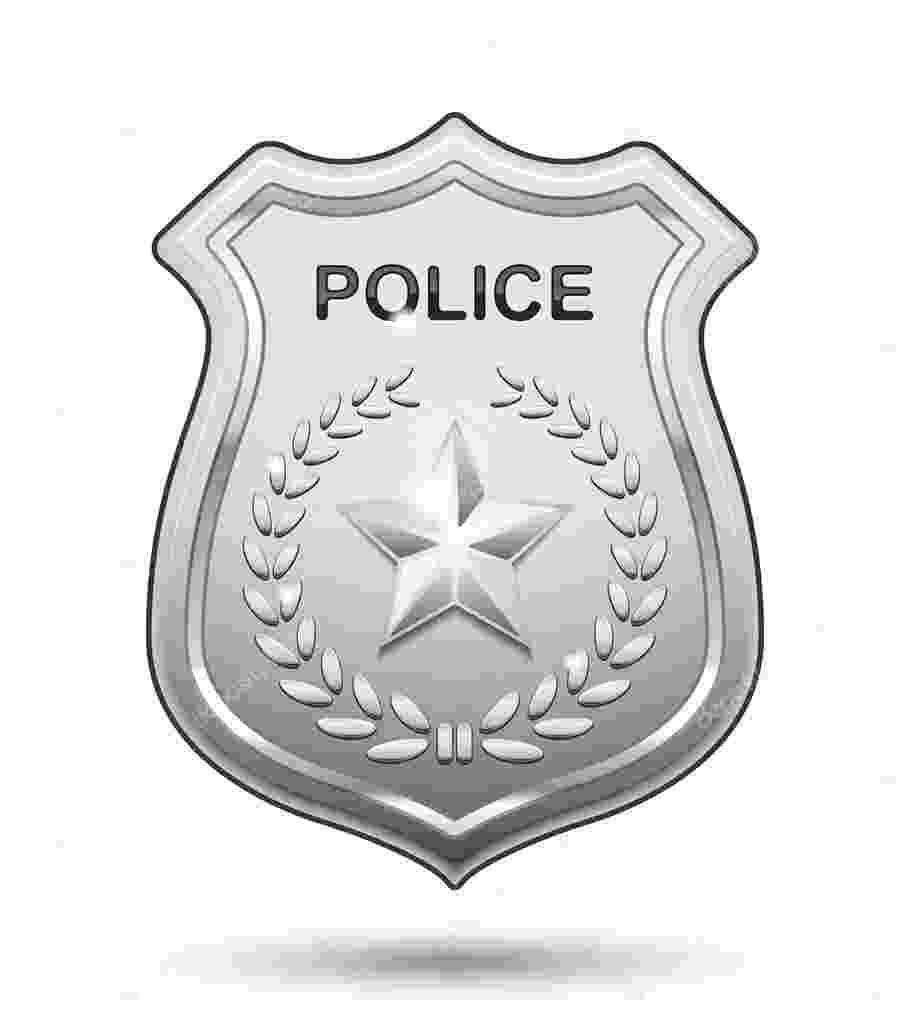 placa de policia dibujo police officer badge coloring page free printable policia dibujo de placa