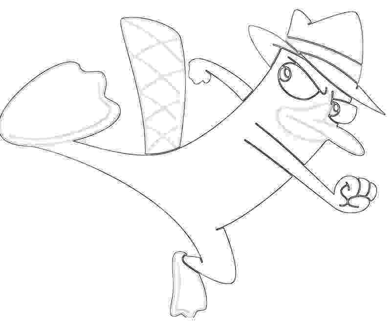 platypus coloring page perry the platypus kick tubing platypus page coloring