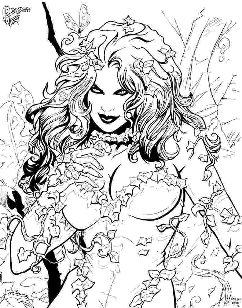 poison ivy coloring page uma thurman poison ivy by jamiefayx coloring 4 kids ivy poison coloring page