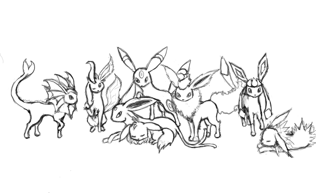 pokemon coloring pages eevee evolutions button research and inspiration rasquat pokemon eevee coloring evolutions pages