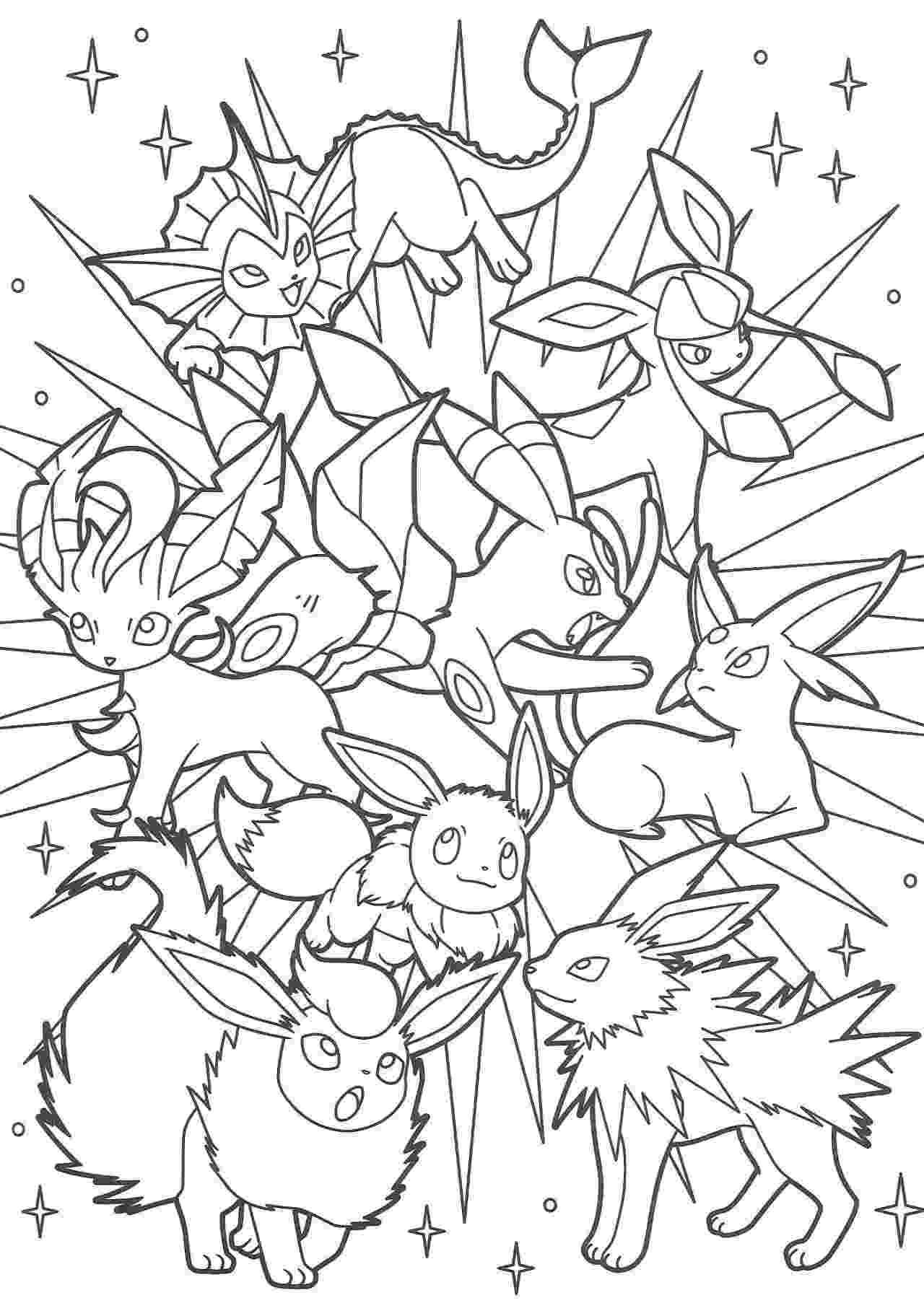 pokemon coloring pages eevee evolutions eevee pokemon coloring pages coloring home eevee evolutions pokemon pages coloring