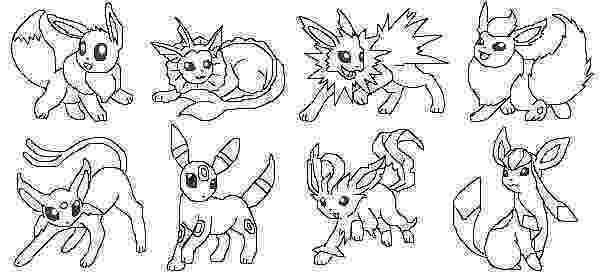 pokemon coloring pages eevee evolutions glaceon eevee pokemon coloring pages getcoloringpagescom pokemon coloring evolutions glaceon eevee pages