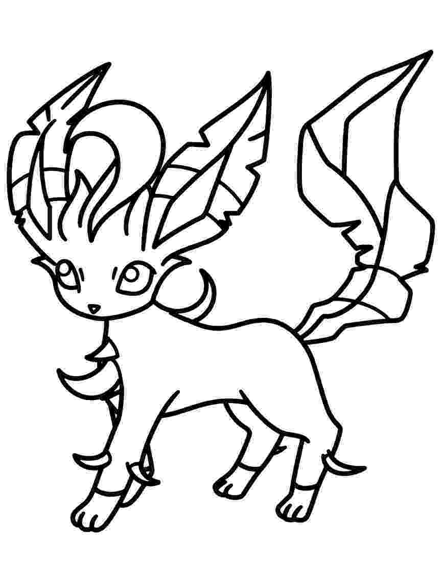 pokemon coloring pages eevee evolutions glaceon elegant image of eevee evolutions coloring pages glaceon pokemon coloring evolutions pages eevee