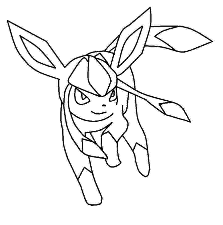 pokemon coloring pages eevee evolutions glaceon glaceon pokemon coloring page coloring home pages eevee glaceon pokemon coloring evolutions