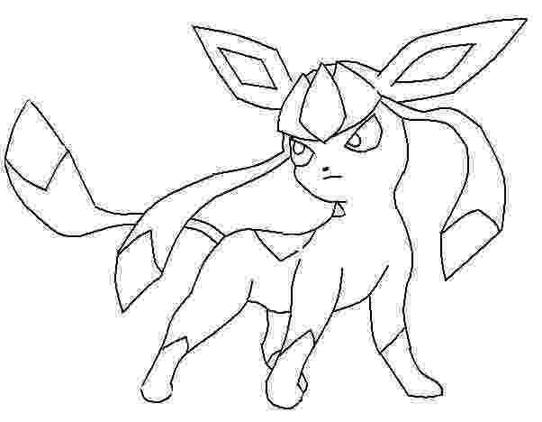 pokemon coloring pages eevee evolutions glaceon glaceon pokemon coloring page free printable coloring pages pokemon coloring eevee pages glaceon evolutions