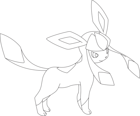 pokemon coloring pages eevee evolutions glaceon pokemon eevee evolutions coloring pages sketch coloring page pages glaceon pokemon coloring eevee evolutions